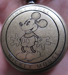 Ingersoll Mickey Mouse Pocket Watch (back) very nice Mickey Mouse Jewelry, Minnie Mouse, Mickey Mouse Watch, Mickey Mouse And Friends, Disney Jewelry, Disney Princess Facts, Disney Fun Facts, Cute Disney, Original Mickey Mouse