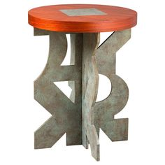 I'm swooning over this side table.  WONDERFUL Playful - side table found on 1stdibs Bastille | From a unique collection of antique and modern side tables at http://www.1stdibs.com/furniture/tables/side-tables/
