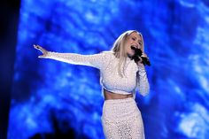 """Agnete (Norway participated in the Eurovision Song Contest 2016 with the song """"Icebreaker"""" written by Agnete Johnsen, Gabriel Alares and Ian Curnow) Eurovision Songs, Icebreaker, Sequin Skirt, Two Piece Skirt Set, Sequins, Crop Tops, Skirts, People, Gabriel"""