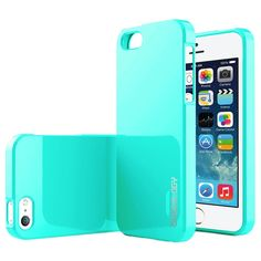 iPhone 5/5S/SE Caseology Drop Protection TPU Cover - Turkis / Mynte