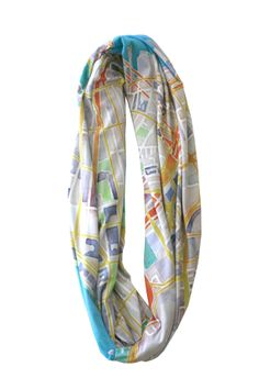 Infinity Map Scarf | Stamen's Watercolor print | Made-to-order by local San Francisco designer; each scarf has a map of your favorite neighborhood!
