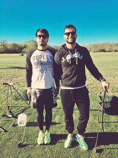 Finn Balor & Hideo Itami golfing