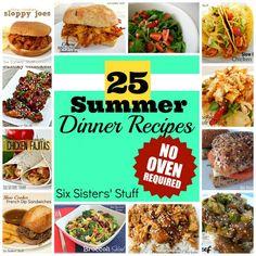 25 summer dinner recipes