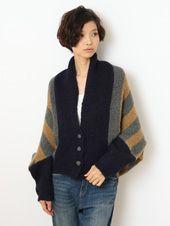 Stripe knit cardigan / ShopStyle(ショップスタイル): [Jocomomola de Sybilla]