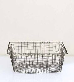 wire basket find at Brook Farm General Store Wire Basket Storage, Wire Storage, Toilet Accessories, Home Accessories, Pantry Laundry Room, Laundry Rooms, Loo Roll Holders, Large Baskets, Woven Baskets