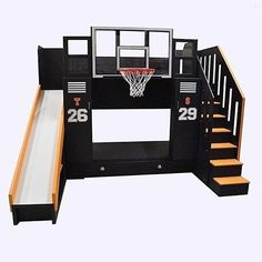 How cool is this Basketball bunk bed?! Via @tanglewooddesign... - Home Decor For Kids And Interior Design Ideas for Children, Toddler Room Ideas For Boys And Girls