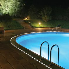 Solar Rope Lights Backyard, Solar Patio Lights, Swimming Pools, Garden,  Pool Landscaping