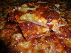 Σπιτική πίτσα με λεπτή ζύμη Calzone, Hawaiian Pizza, Lasagna, Ethnic Recipes, Food, Pie, Greek Recipes, Kitchens, Meals