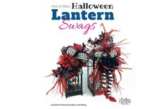 Lantern swags are flowers that sit on top of a lantern and used to decorate your lantern for the holidays. In this tutorial how to make a lantern swag....