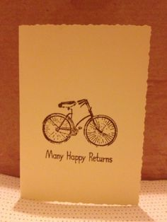 Bicycle birthday card by CardTimes