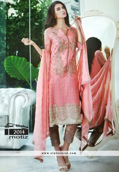 Peach And Beige Color Pant Style Party Wear Salwar Suit