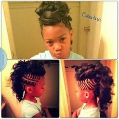 Braided Mohawk with curls