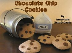 Free Felt Chocolate Chip Cookie Pattern Template and Tutorial