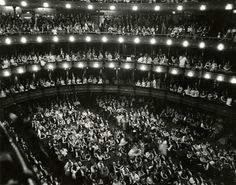 October 22, 1883: The Metropolitan Opera House, at 1411 Broadway (39th St.), opens with a performance of Faust.  During the Gilded Age. Opera House interior, undated photograph, NYHS Image # 70327.