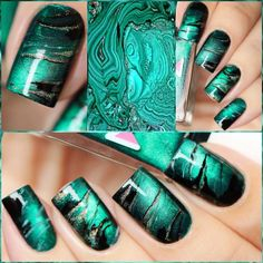 This magnetic nail polish is a green with shimmer to paint your nails with for a magnificent nail design. Collection: Magnetic Recommended 2 coats or 1 coat over a black base. Magnets are sold separat