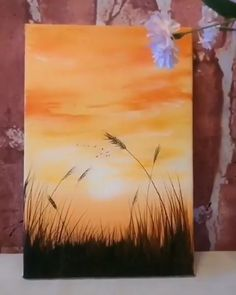 SUNSET PAINTING What a beautiful acrylic paintingWhat a beautiful acrylic painting Diy Art Painting, Small Canvas Art, Nature Art Painting, Amazing Art Painting, Diy Canvas Art Painting, Creative Painting, Painting Art Projects, Sunset Painting, Diy Canvas Art