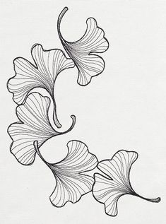 engraved ginkgo urban threads unique and awesome embroidery Silk Ribbon Embroidery, Crewel Embroidery, Embroidery Patterns, Machine Embroidery, Flower Embroidery Designs, Embroidery Fashion, Embroidery Thread, Urban Threads, Plant Drawing