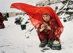 "warkadang: ""Lake Chaqmaqtin, Wakhan Corridor, Afghanistan A young Kyrgyz girl early in the cold winter morning, washing up outside of her yurt, high in the Pamir mountains. For lack of adequate. Western World, What A Wonderful World, Central Asia, Months In A Year, Afghanistan, Great Photos, Travel Pictures, Art For Kids, Culture"
