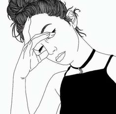 drawing, girl, outline, tumblr - image #3982163 by Sharleen on ...