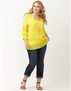 Amp up your look with Lane Bryant's plus size women's blouses and dressy tops. Go from work to weekend with our versatile plus size tops in sizes Trendy Plus Size Clothing, Plus Size Outfits, Plus Size Fashion, Plus Size Women's Tops, Plus Size Blouses, Summer Blouses, Summer Shirts, Dressy Tops, Lane Bryant