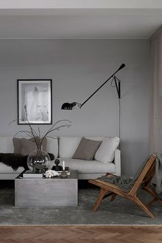 New living room grey walls brown couch floors Ideas Living Room White, Living Room Grey, Living Room Sofa, Living Room Interior, Home Living Room, Interior Livingroom, Apartment Living, Decoration Inspiration, Interior Inspiration