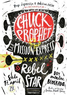 Chuck Prophet – Concert Poster