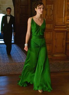 Most unforgettable dress ever on Keira Knightly in Atonement.