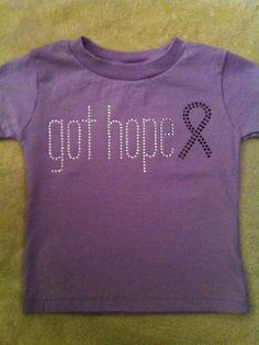 Support Cancer Tshirt. $20.00, via Etsy.