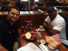 Erik Ainge and Jamal Lewis feared on pretzels and beer cheese at Calhoun's on Bearden Hill