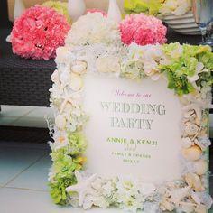 Welcome board♡  #wedding #weddingideas #weddingparty #beachphoto #weddingphoto #hawaii #guam #welcomeboard #リゾートウェディング #ハワイ #グアム #結婚式 #ウェディングフォト #披露宴 #ウェルカムボード