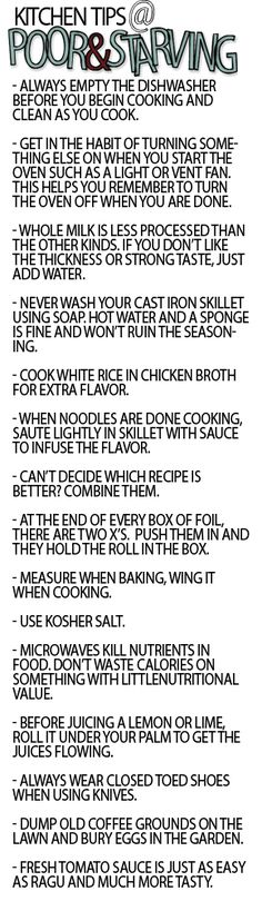 Kitchen Tips - You'll thank me later for this
