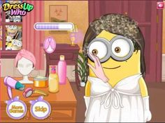Minion Wedding Hairstyles Game. Play game at http://www.y8-games.name/minion-weddi.... Weve got some wonderful news for you, ladies! This lucky minion girl is now getting ready to walk down the aisle and she would very much like to impress her loving groom with a stunning bridal look.