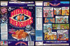 general mills cereal boxes | General Mills - Hidden Treasures cereal box - 1994 | Flickr - Photo ...