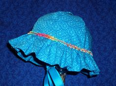 Blue Baby Sunhat by AdorableandCute on Etsy, $20.00