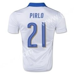 2016 European Cup Italy PIRLO Away White Thailand Soccer Jersey