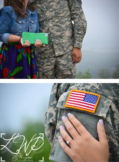 Great idea for all my gfs who are married to a military man. A great photo to do after deployment