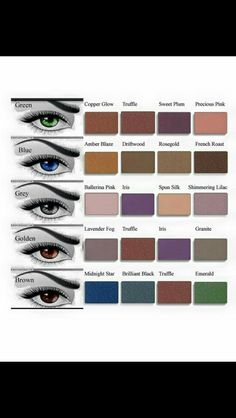 Eyeshadow Looks for eye color!