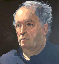 Acrylic sketch of John by David Gamblin, Cornwall