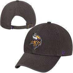64c25a061dd83 Minnesota Vikings  47 Brand Charcoal Clean Up Adjustable Hat