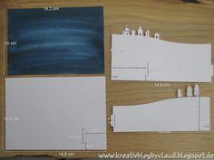Stille Nacht - Bendi Fold Card mit Anleitung Tri Fold Cards, Fancy Fold Cards, Folded Cards, Christmas Cards 2017, Xmas Cards, Scrapbook Cards, Scrapbooking, Stampin Up, Interactive Cards