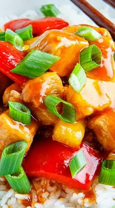 Sweet and Sour Chicken Recipe ~ A quick, easy and lighter version of sweet and sour chicken that is so much better than takeout!