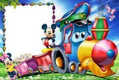 Minnie y Mickey Mickey Mouse Background, Kids Background, Happy Birthday Images, Happy Birthday Cards, Miki Y Mini, Scrapbook Da Disney, Disney Frames, Boarder Designs, Photo Frame Design