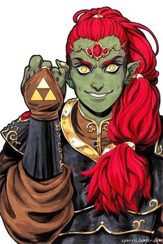 cparris:  5. Antagonist redesign: Ganondorf  Beautiful young asshole Ganondorf. Is anyone really surprised I did this? 8D