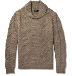 A.P.C. - Wool-Blend Shawl Collar Sweater | MR PORTER