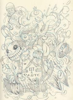 Sketchbook 2012 by Raul Urias, via Behance