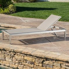 Cape Coral Outdoor Aluminum Adjustable Chaise Lounge by Christopher Knight Home (Grey), Patio Furniture Patio Chaise Lounge, Patio Rocking Chairs, Patio Chairs, Lounge Chairs, Chaise Lounges, Patio Glider, Outdoor Furniture, Outdoor Decor, Pallet Furniture