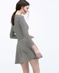 Image 3 of STRIPED JERSEY DRESS from Zara