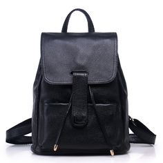 49.28$  Buy here - http://aixga.worlditems.win/all/product.php?id=32793698370 - Hot Sales 2017  Fashion Brand Genuine Leather Women's Backpacks Cowhide Shoulder Bag Hot Sales School Bag Travel Backpack L098