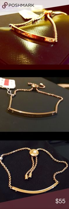 Michael Kors Adjustable Bracelet BNWT, Michael Kors pull chain bracelet. Michael Kors Jewelry Bracelets