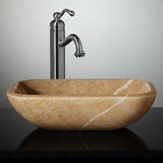 Eris Honey Onyx Vessel Sink